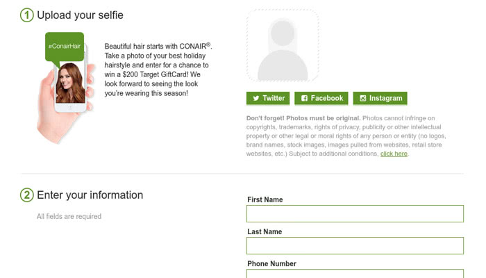 Example of device upload and social upload integration.