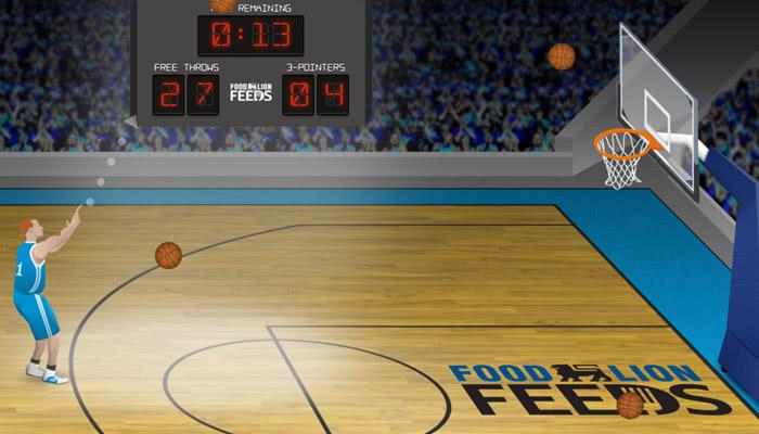 Basketball shooting challenge game.