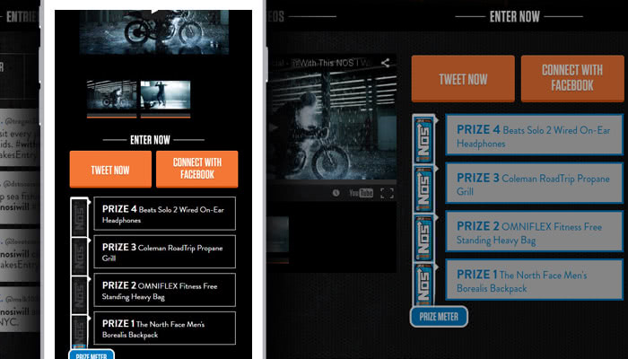 Mobile responsive site with Twitter integration.